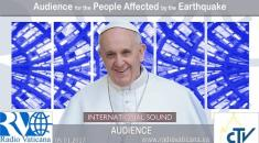 Audience with populations struck by the Italian earthquake